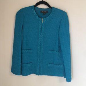 St. John Turquoise Jacket size 8